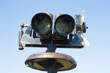 old big binoculars