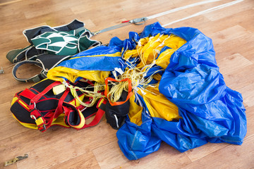disassembled parachute
