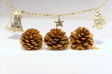Dry pine flower Christmas set