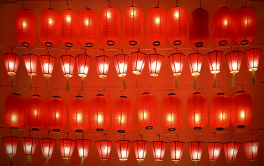 The red light lanterns background