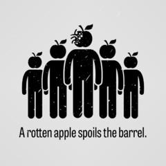 A Rotten Apple Spoils the Barrel