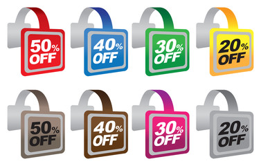 Discount sale wobblers with marketing message