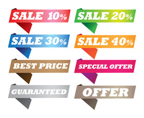 Discount Sales Banners and Labels for Businesses