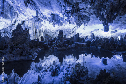 Reed flute cave in Guilin Guangxi China - 78294472