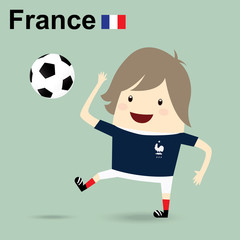 france national football team, businessman happy is playing socc