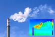 Leinwanddruck Bild - Thermovision image heating chimney