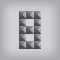 8 number eight alphabet geometric icon and sign triangle modern