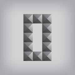 0 number zero alphabet geometric icon and sign triangle modern w