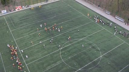 Aerial view on American football match.