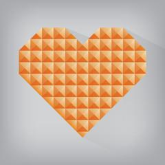 orange retro heart triangle abstract love valentine day jewel te