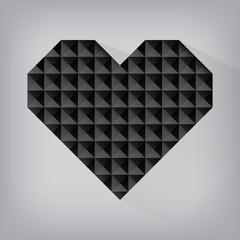 black retro heart triangle abstract love valentine day jewel tex