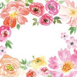 Fototapety Watercolor spring flowers.