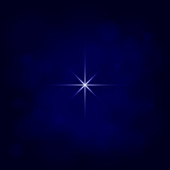 abstract star magic light sky bubble blur blue background