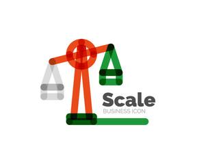Line minimal design logo scale