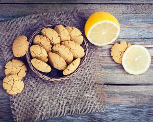 Homemade lemon cookies