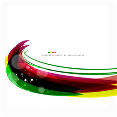 Rainbow bright light air lines background