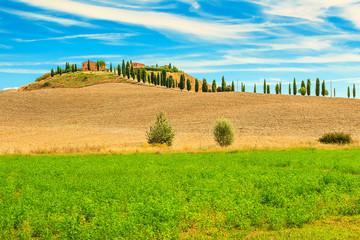 Classic Tuscany view,Siena region,Italy,Europe