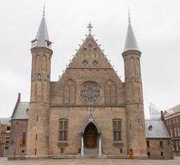 Gothic facade of Ridderzaal in Binnenhof, Netherlands