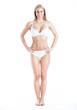 canvas print picture - Muscular female body in underwear