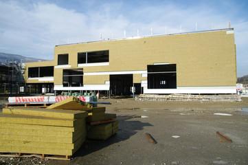 isolation de bâtiment industriel - laine de bois
