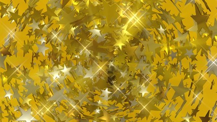 Seamles stars loop in gold shiny color.