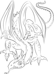 Sketch of dragon