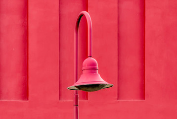 the red streetlight