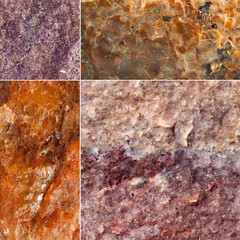 The texture of the stone surface minerals mined in Russia