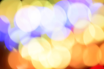 Abstract background with Bokeh and defocused lights