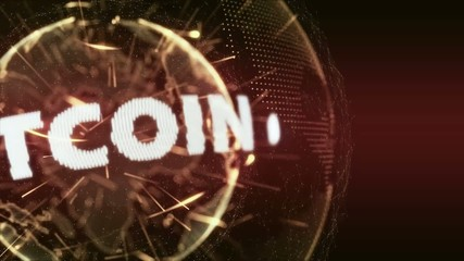 World News bitcoin currency Intro Teaser orange red