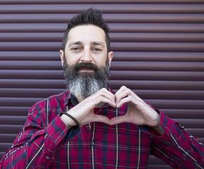 bearded man gesturing
