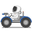 Astronaut on the lunar rover - 78301286