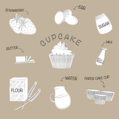 Cup cake recipe