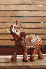 elephant made of wood