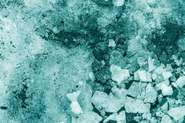 pieces of snow and ice indigo color