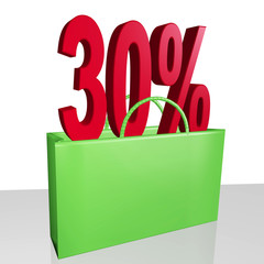 Shopping bag with percent thirty
