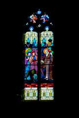 Vitrail de la chapelle de Sainte Anne la palud, Finistère, Breta
