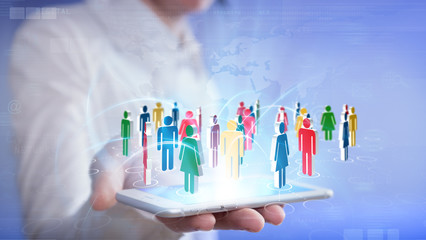social networking with smartphone