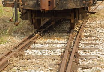 Train wheel on track