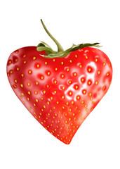 сочная спелая ягода земляника