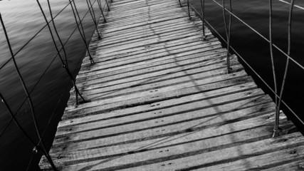 Wood bridge.