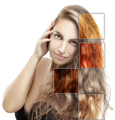 Concept Coloring Hair.Natural colored hair.