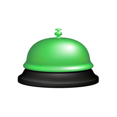 Service bell in black and green design
