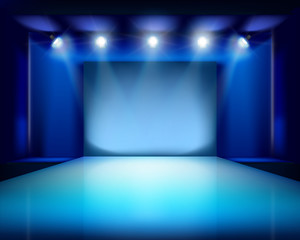 Empty stage. Vector illustration.