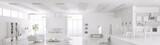 Photo: Interior of modern white apartment panorama 3d render