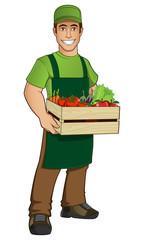 Vendedor de fruta y verduras