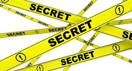 Секрет (secret). Желтая оградительная лента