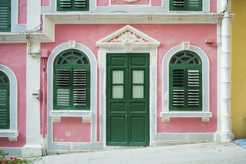 portuguese colonial house architecture in macau china