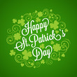 St. Patrick's card with clover and typography