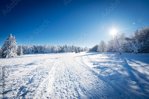 Plexiglas Bergen Paysage de neige